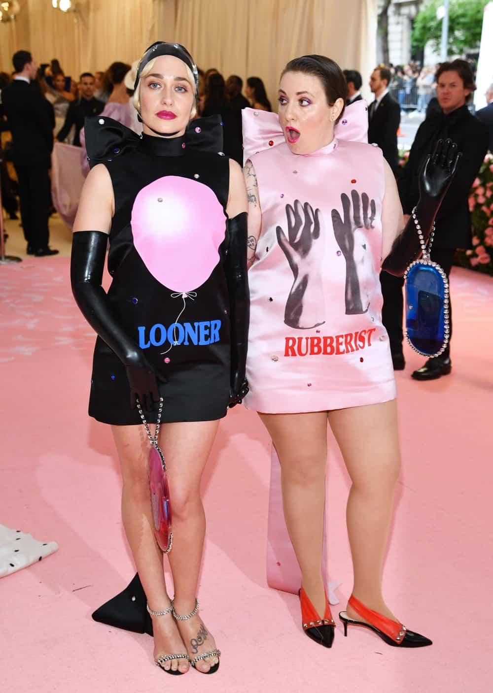 Jemima Kirke and Lena Dunham The 2019 Met Gala Celebrating Camp: Notes on Fashion - Arrivals