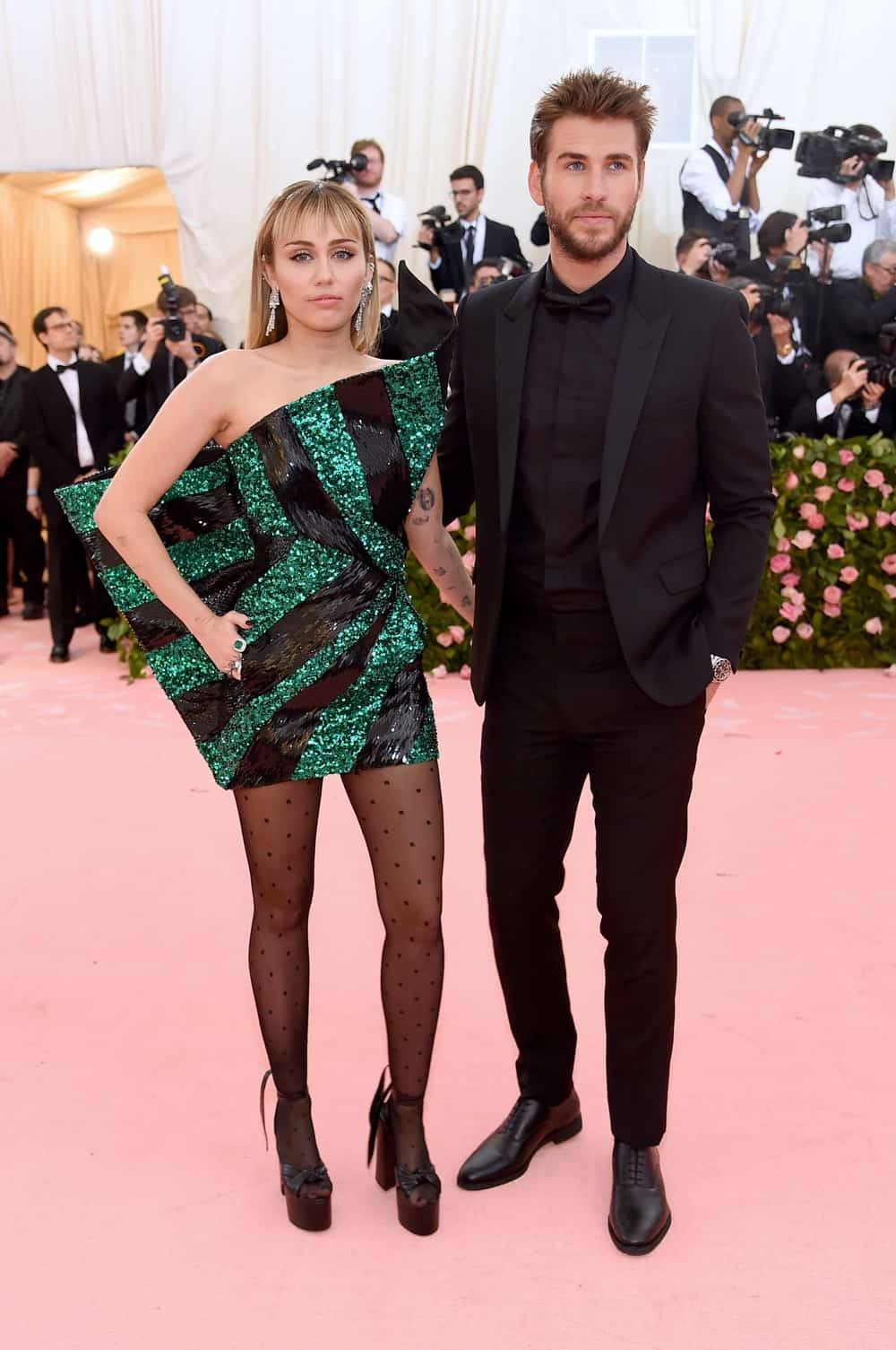 Miley Cyrus and Liam Hemsworth The 2019 Met Gala Celebrating Camp: Notes on Fashion - Arrivals