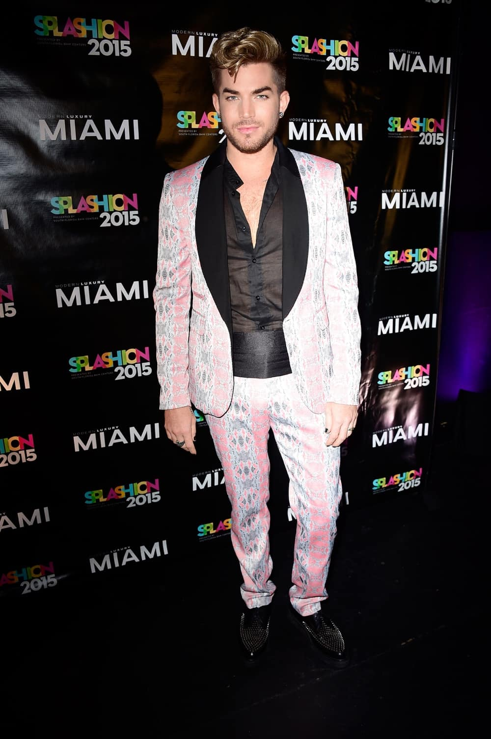Adam Lambert at Miami Magazine's Splashion At Fillmore Miami Beach