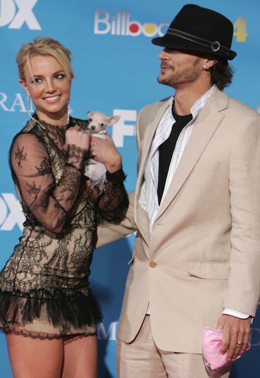 Britney Spears and Kevin Federline 2004 Billboard Music Awards - Arrivals