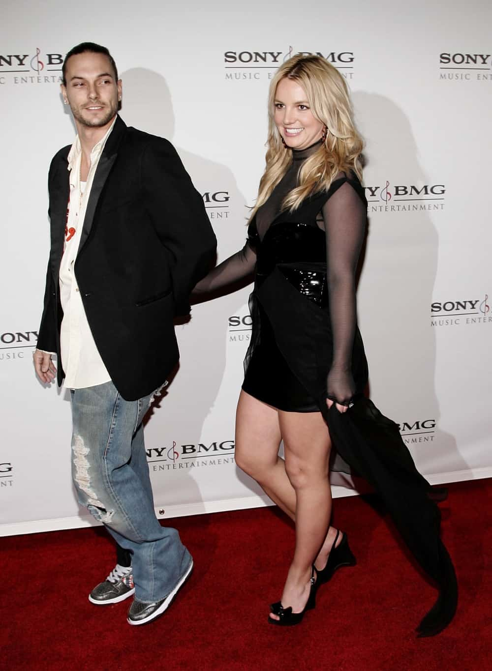 Britney Spears and Kevin Federline SONY BMG Grammy Party - Arrivals