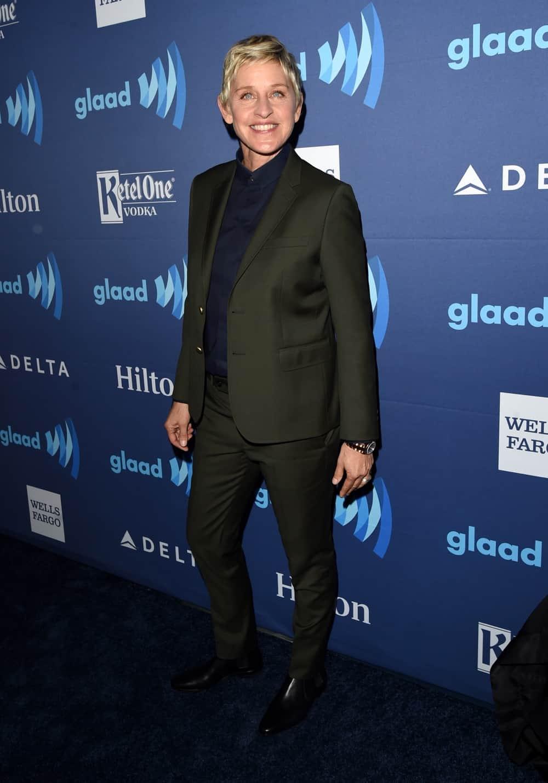 Ellen DeGeneres Red Carpet - 26th Annual GLAAD Media Awards