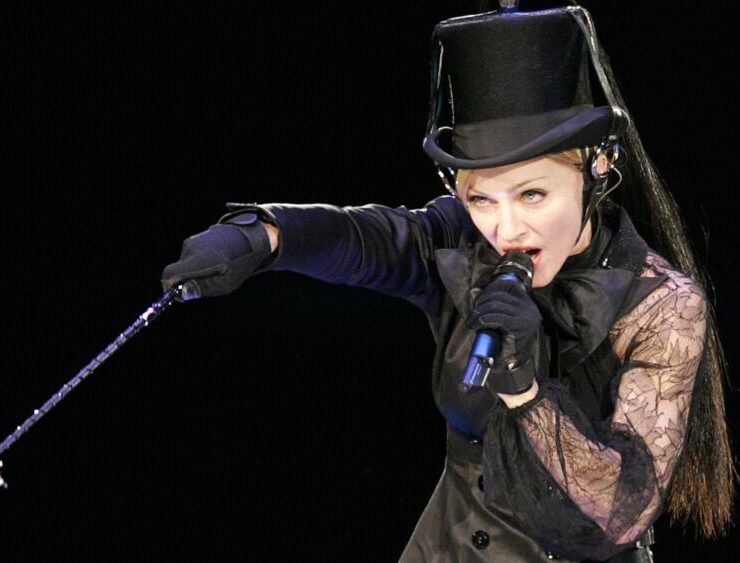 US pop star Madonna performs in Moscow,