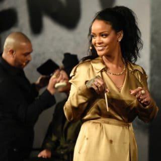 Rihanna at Fenty Beauty Artistry Event Red Carpet