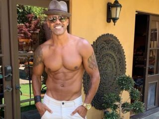 Shemar Moore shirtless