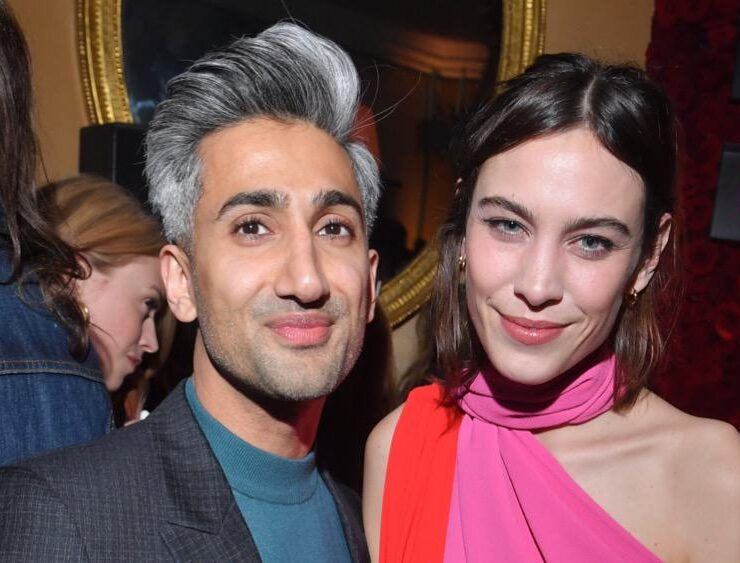 Tan France and Alexa Chung attend the Victoria Beckham x YouTube Fashion & Beauty After Party at London Fashion Week Hosted by Derek Blasberg and David Beckham