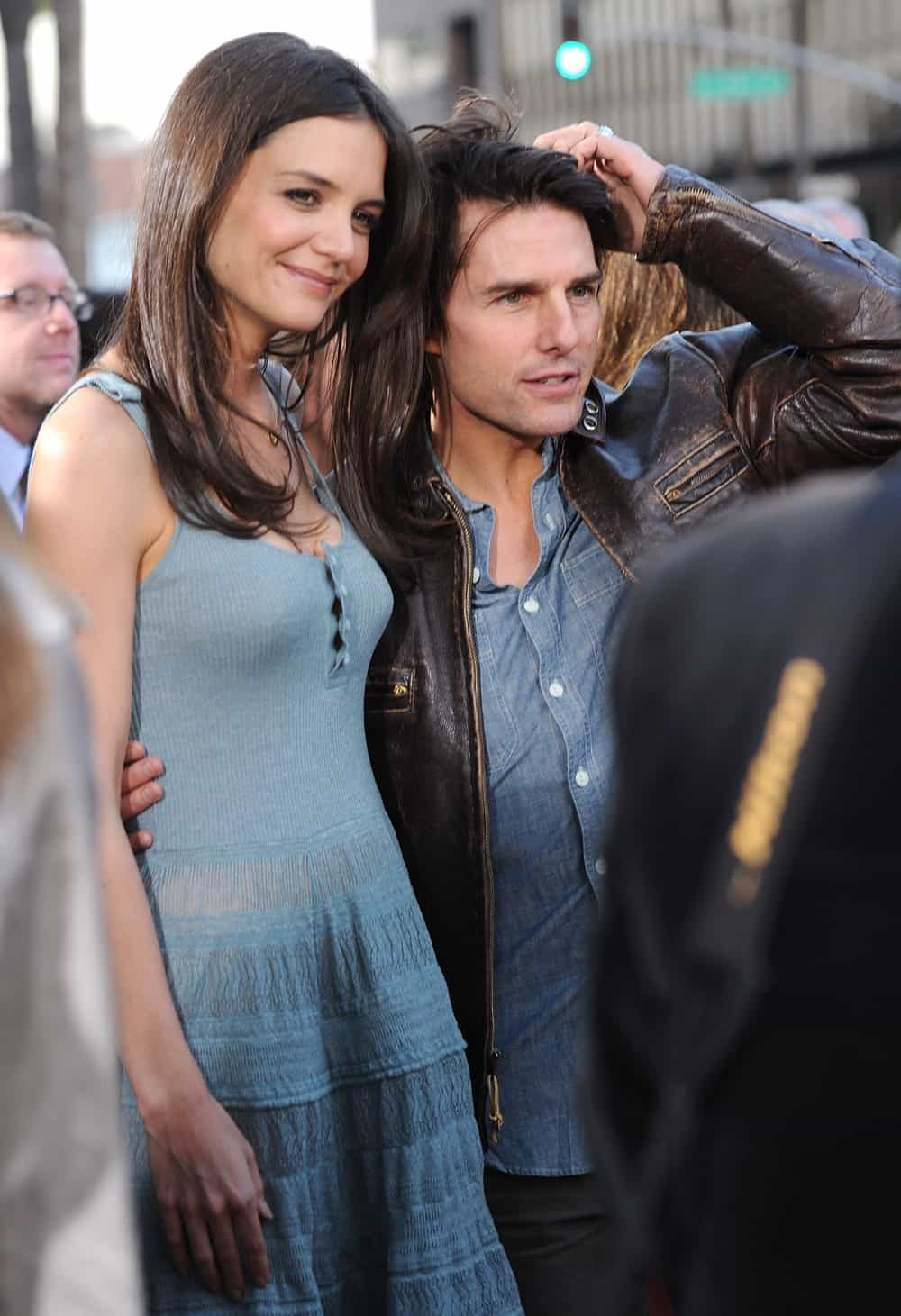 """Katie Holmes and Tom Cruise The ReelzChannel World Premiere of """"The Kennedys"""" - Red Carpet"""