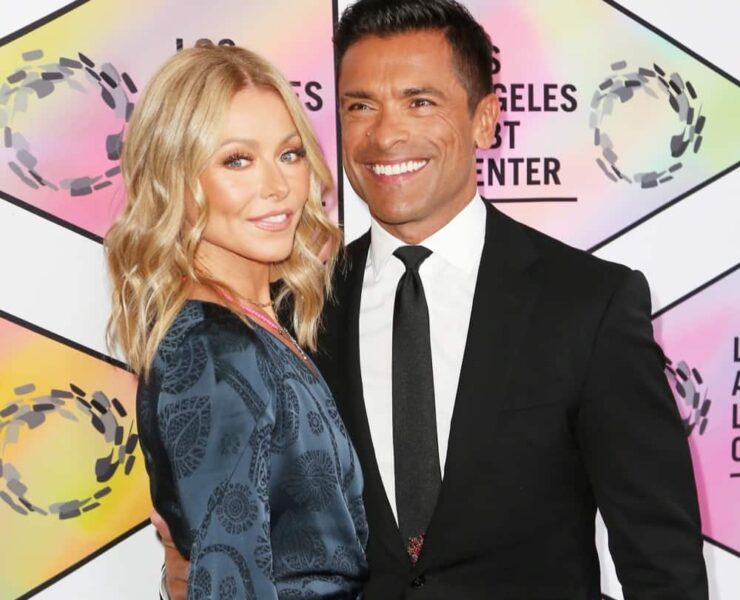 Kelly Ripa and Mark Consuelos Los Angeles LGBT Center's 49th Anniversary Gala Vanguard Awards