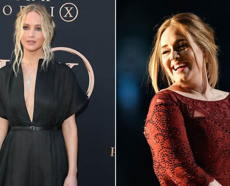 Jennifer Lawrence and Adele