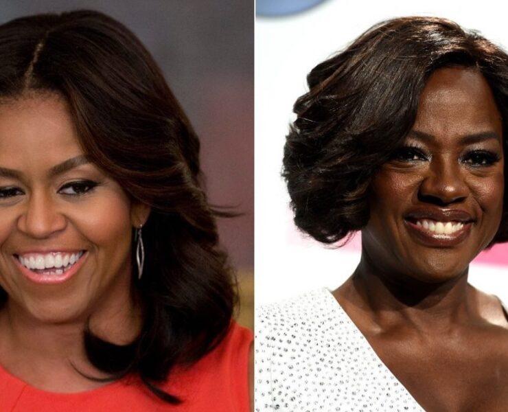 Michelle Obama and Viola Davis