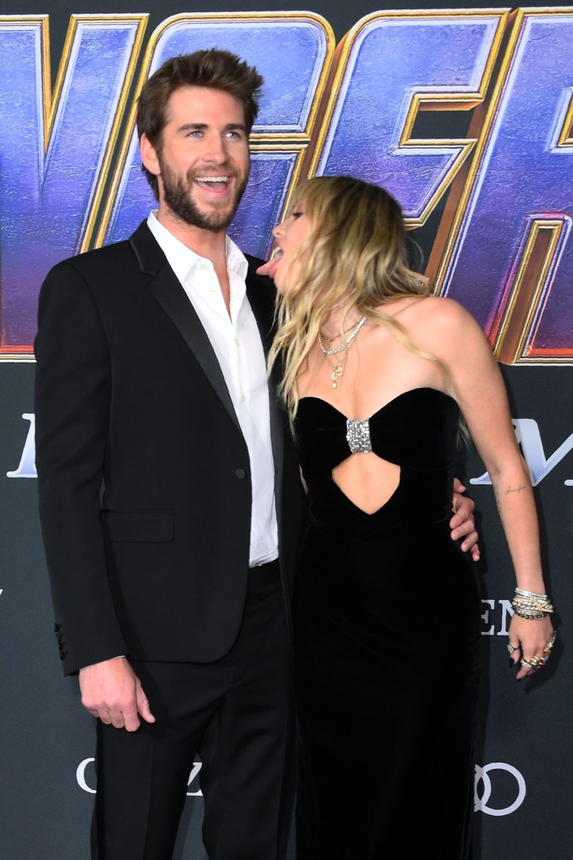 Miley Cyrus and Australian actor Liam Hemsworth