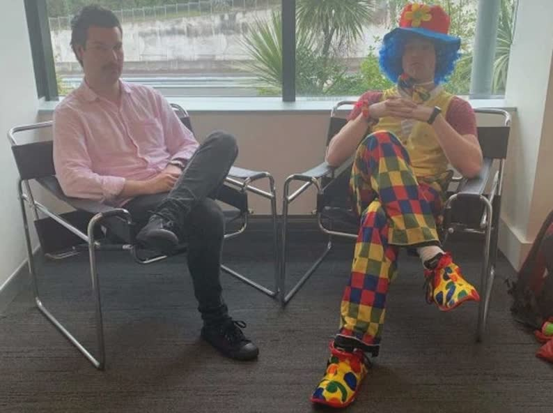 Man Brings Emotional Support Clown to Layoff Meeting