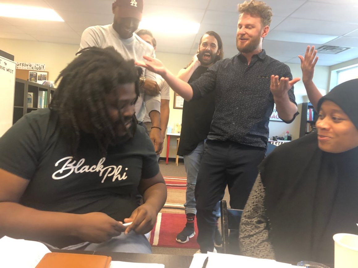 The Queer Eye fab five visited Philadelphia education non-profit Mighty Writers'