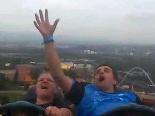 Man Catches Stranger's Phone on Roller Coaster