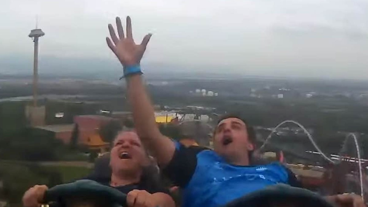 New Zealand man catches phone midair while on roller coaster in Spain
