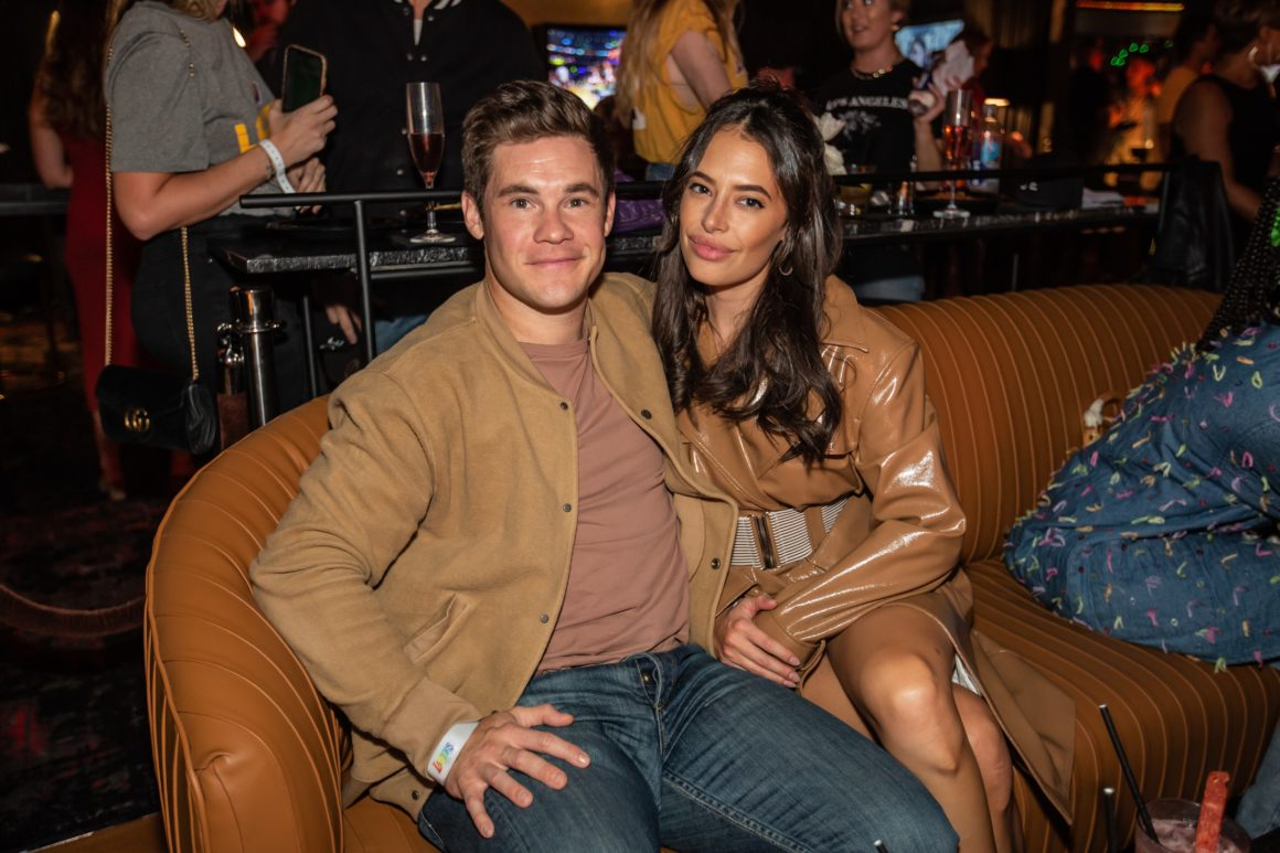 Adam Devine and girlfriend Chloe Bridges