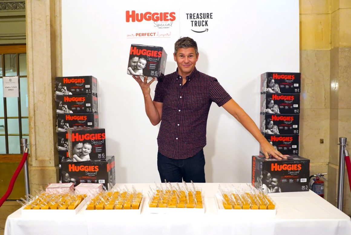 Amazon's Treasure Truck And Huggies Special Delivery With Special Celebrity Guest Chef, David Burtka