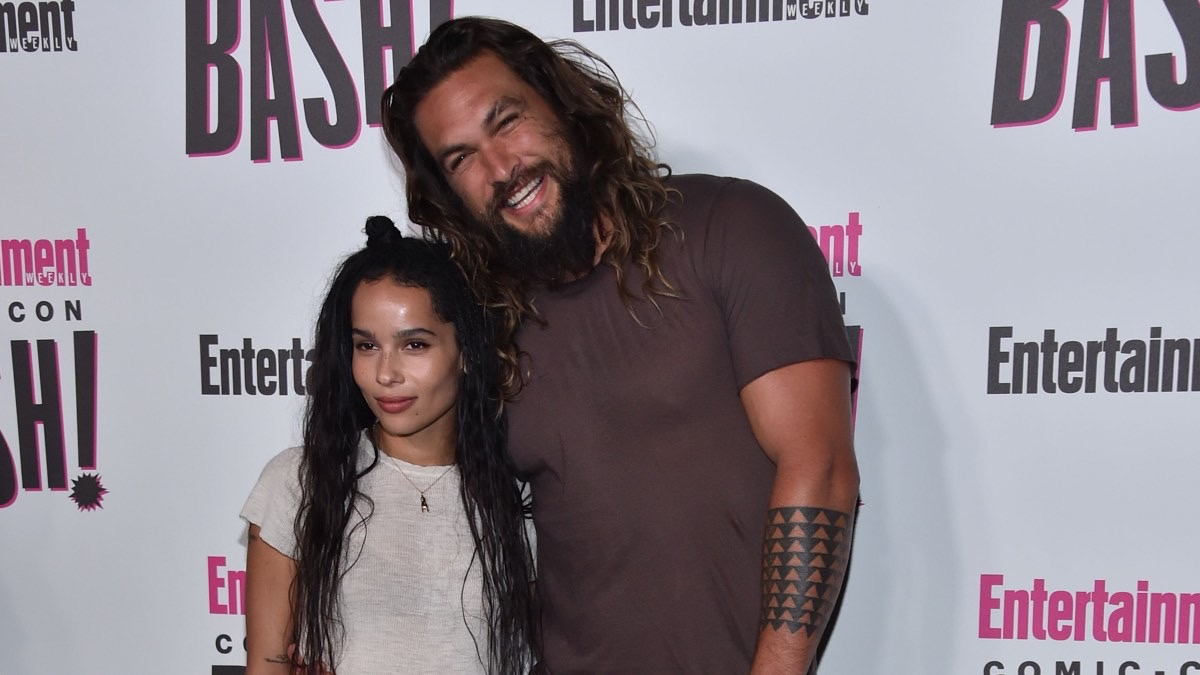 Jason Momoa Stoked That Stepdaughter Zoe Kravitz Is Playing