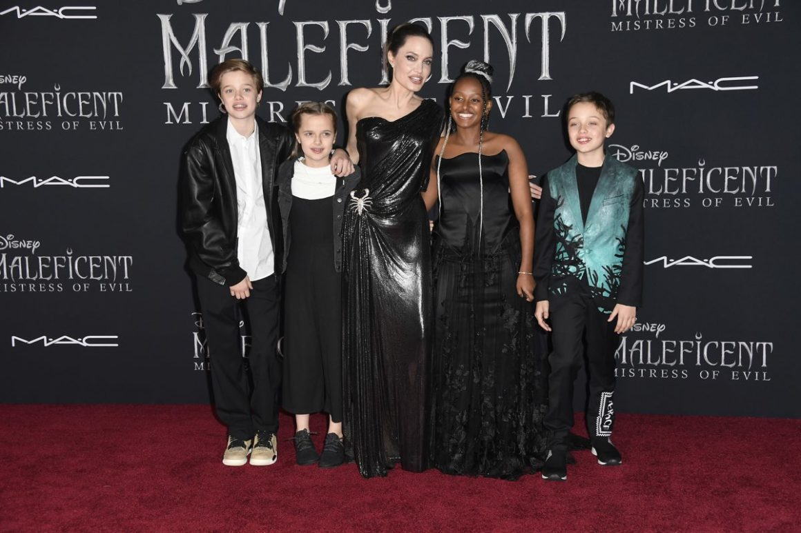 Angelina Jolie Brings The Kids To The Maleficent Premiere