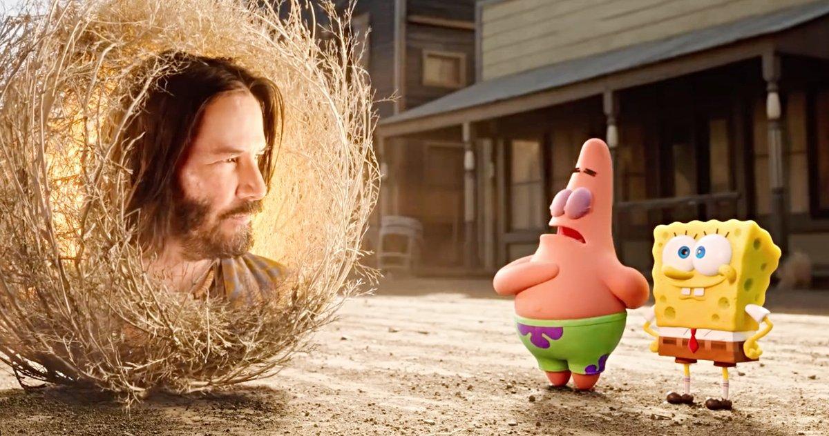 Keanu Reeves Makes Cameo in SpongeBob Movie Trailer — WATCH - Socialite Life