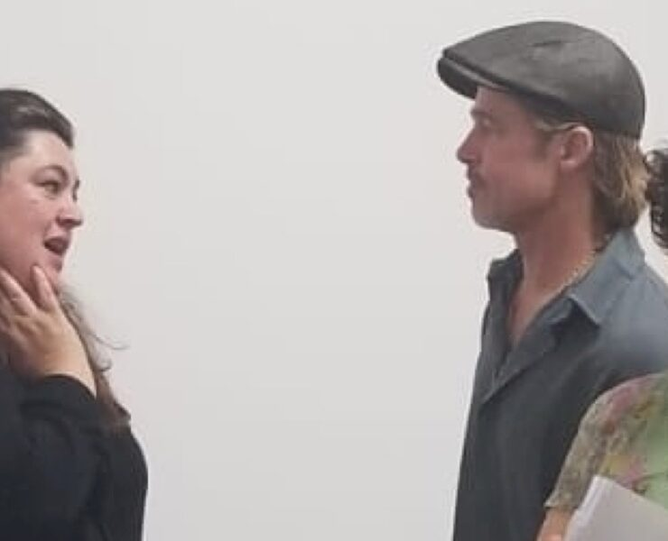 Brad Pitt and Alia Shawkat