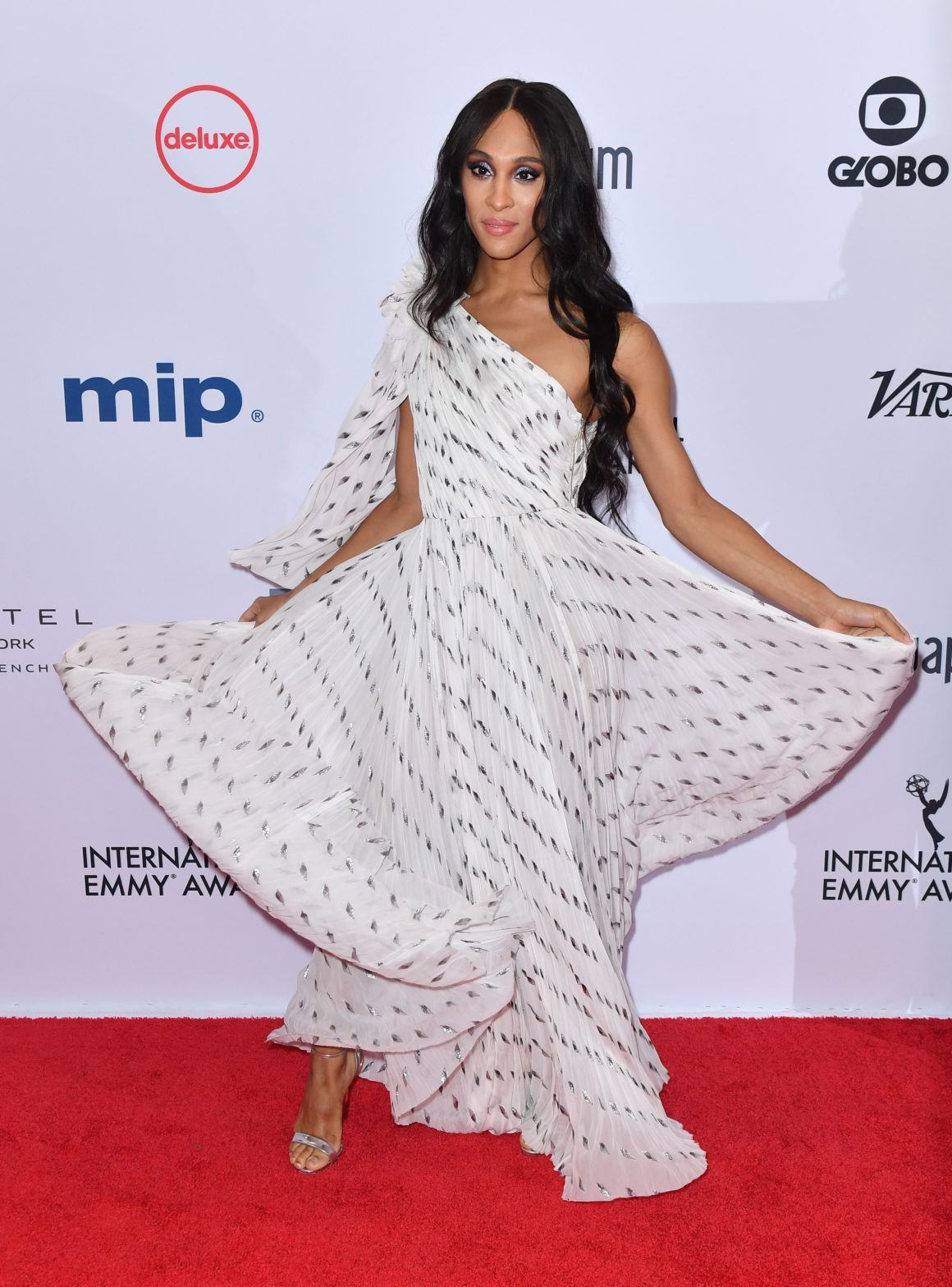 Mj Rodriguez arrives for the 47th Annual International Emmy Awards