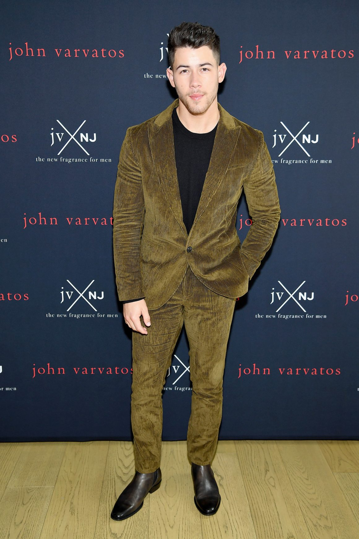 Nick Jonas And John Varvatos Launch Their New Fragrance JVxNJ Silver Edition