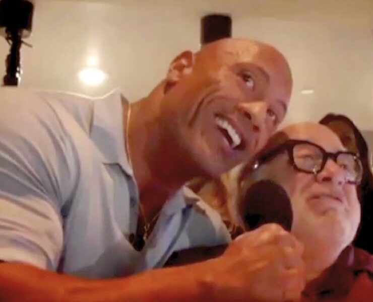 Dwayne Johnson and Danny DeVito