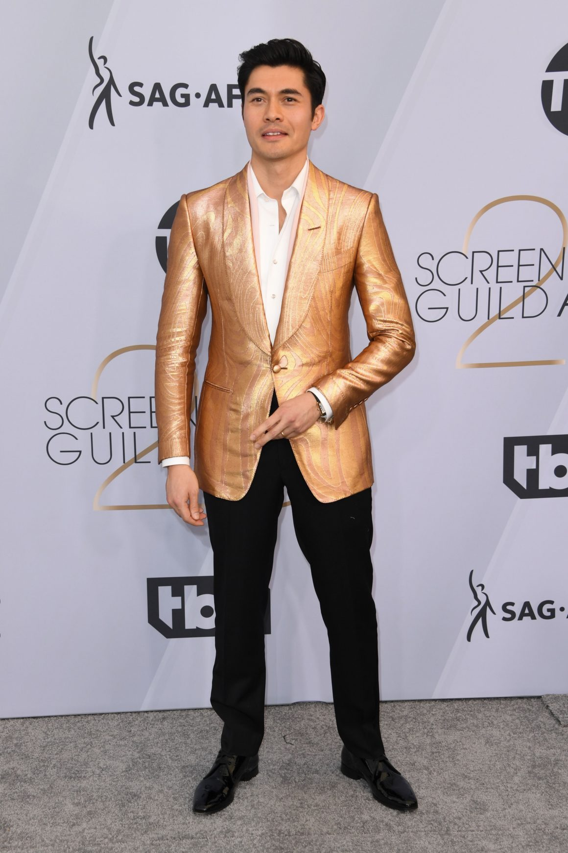 Henry Golding arrives for the 25th Annual Screen Actors Guild Awards