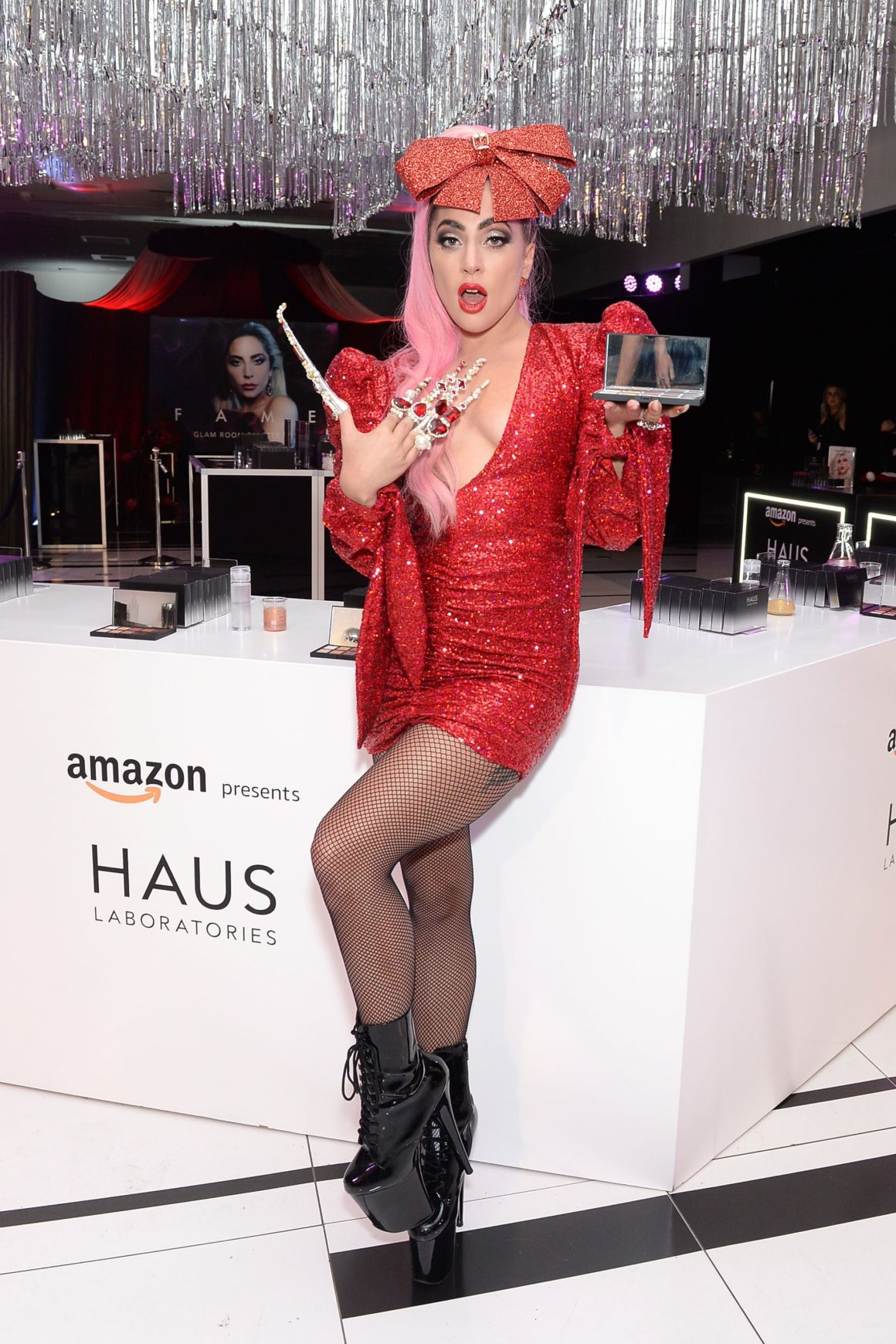 Lady Gaga Celebrates the Launch of HAUS LABORATORIES COSMIC LOVE Holiday Collection with Amazon at the POP-UP