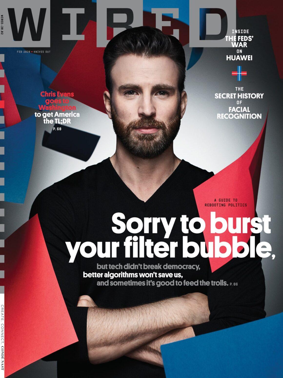 Chris Evans WIRED magazine