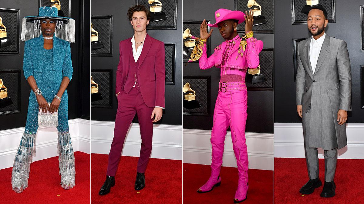 Grammy's 2020 Red Carpet: The Men — Billy Porter, Shawn Mendes, Lil Nas X, John Legend