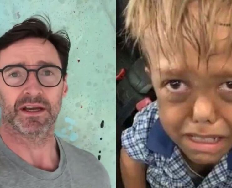 Hugh Jackman and Quaden Bayles