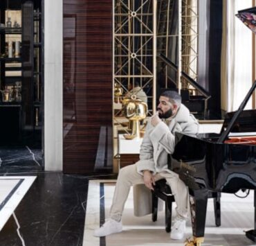 Drake in his mansion