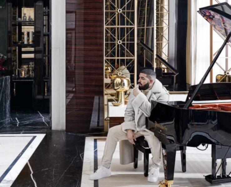 Drake in his mansion