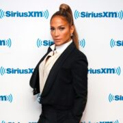 Jennifer Lopez Visits 'The Morning Mash Up' On SiriusXM Hits 1 Channel At The SiriusXM Studios In New York