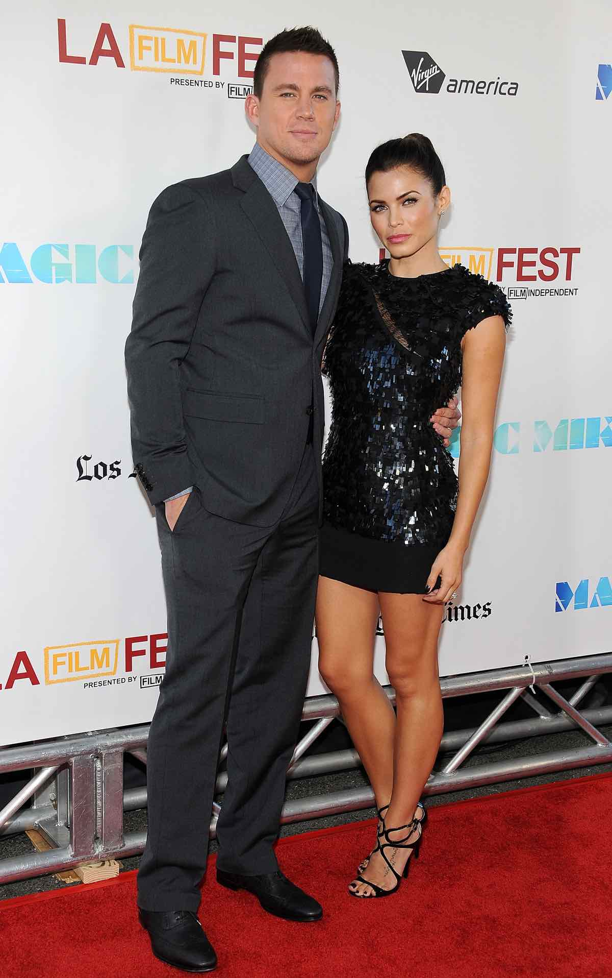 Actor Channing Tatum (L) and actress Jen