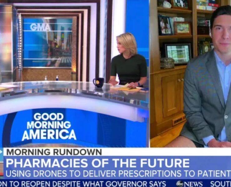 Will Reeve Goes Pantless on Good Morning America Segment