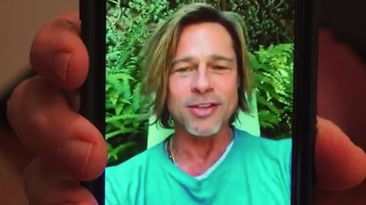 Brad Pitt Video Message