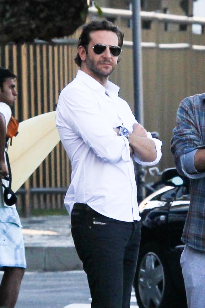 Shirtless Bradley Cooper enjoys the view in Rio de Janeiro