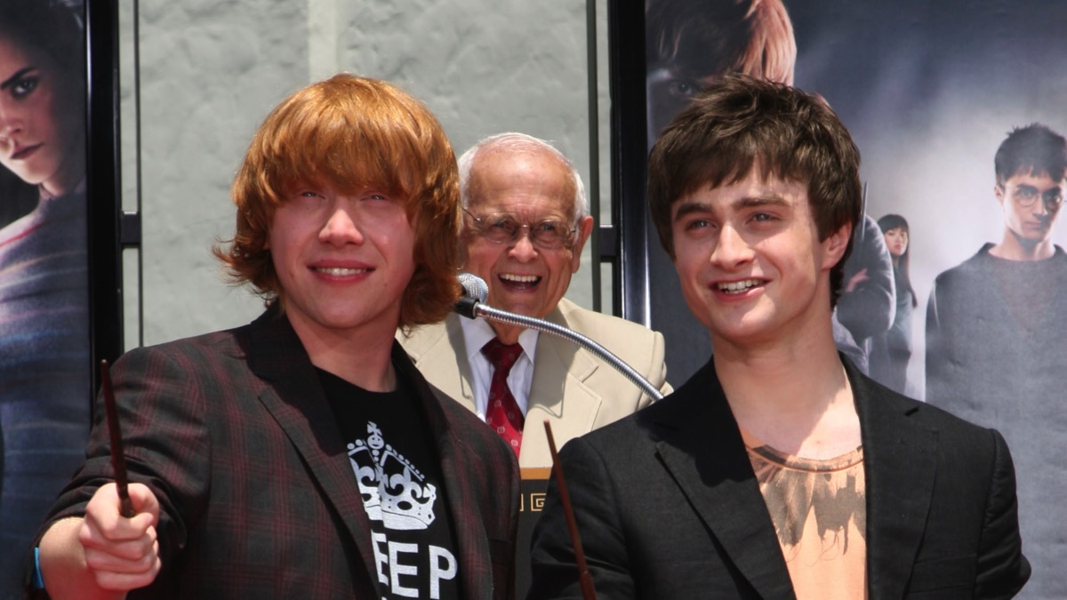 """Harry Potter Cast Hand And """"Wand-Print"""" Ceremony"""