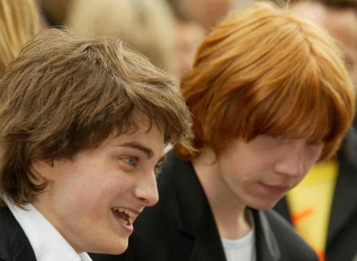 Actors Daniel Radcliffe and Rupert Grint