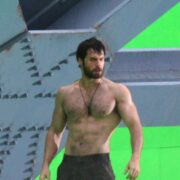 "Henry Cavill Showing Off His Physique On Set Of ""Man Of Steel"""