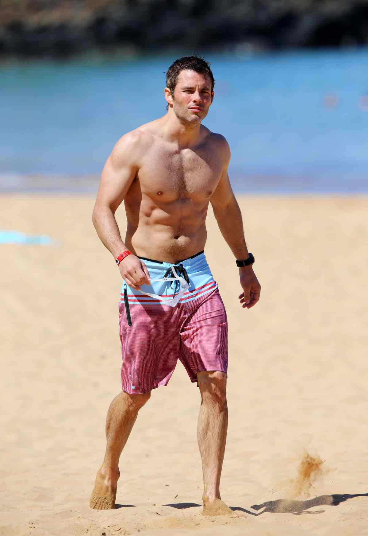 James Marsden Hits The Beach In Maui