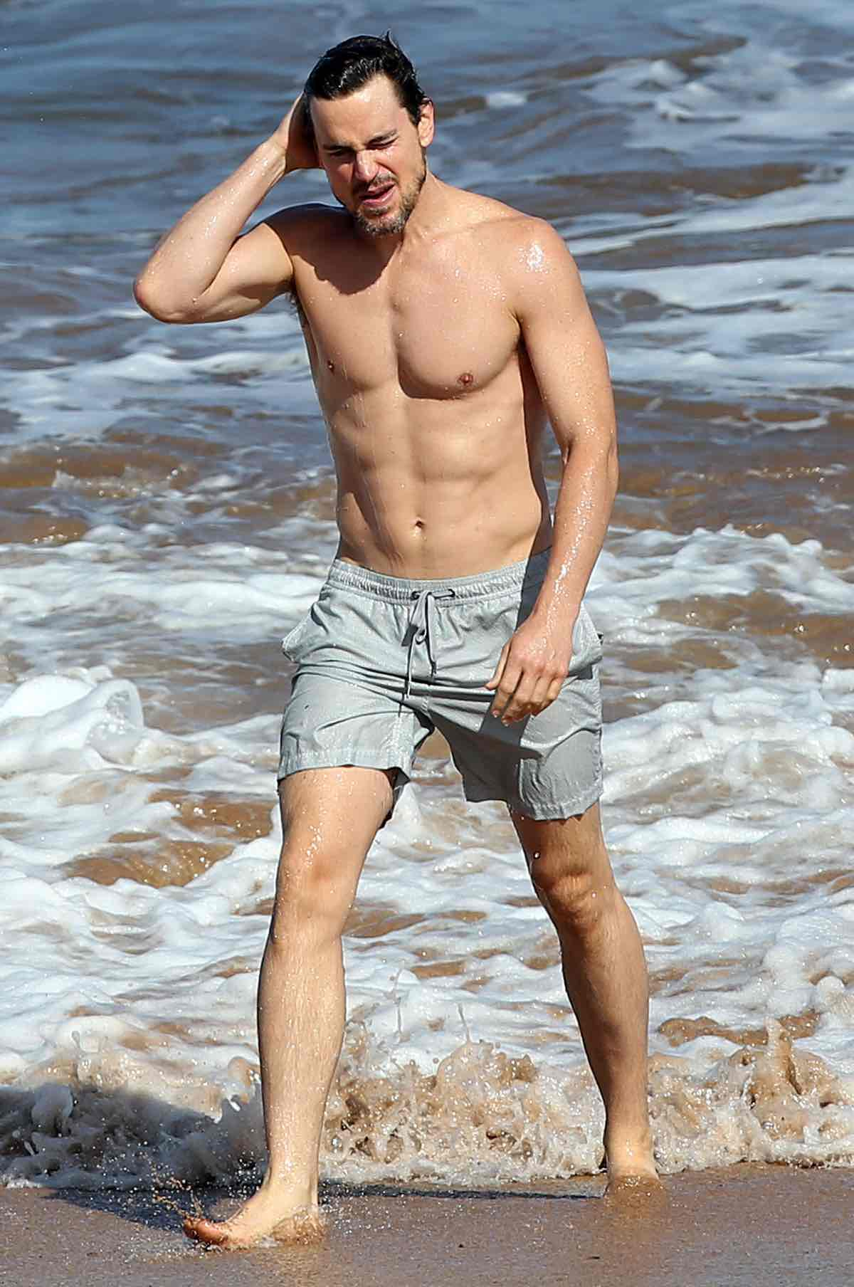 Matt Bomer Enjoys A Day On The Beach In Maui