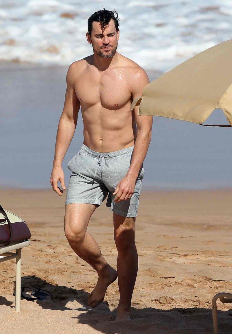 Matt Bomer Enjoys A Day On The Beach In Maui