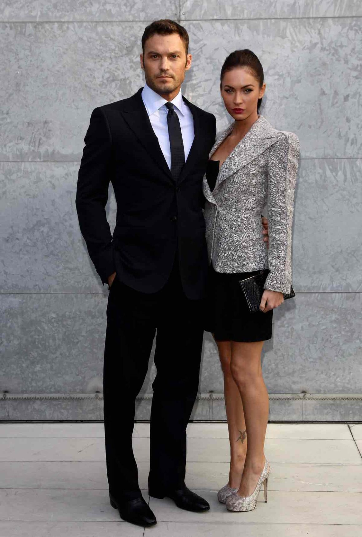 Megan Fox And Brian Austin Green Giorgio Armani - Front Row: Milan Fashion Week Womenswear S/S 2011