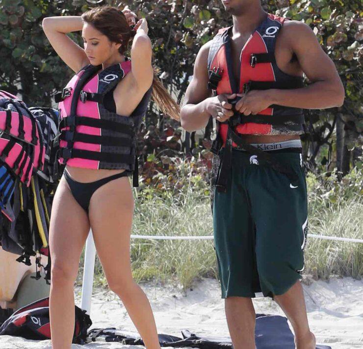 Michael B. Jordan Jet Skiing With Mystery Girl