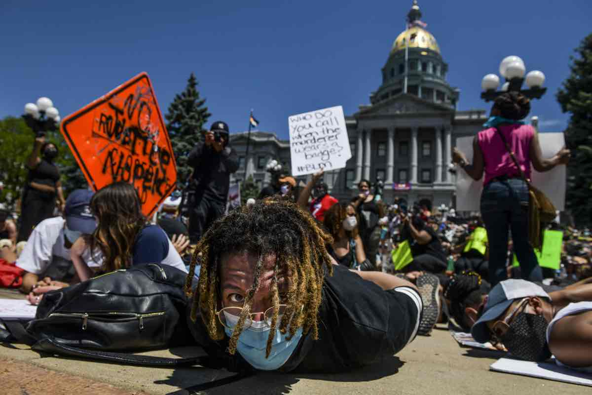 Protests Continue At Capitol In Denver In Aftermath To Death Of George Floyd