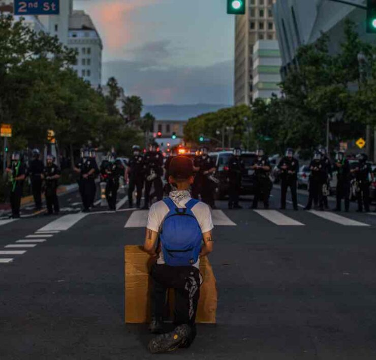 Demonstrations in Downtown Los Angeles